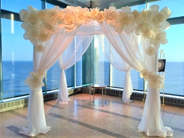 Foam Flower Canopy - Ceremony