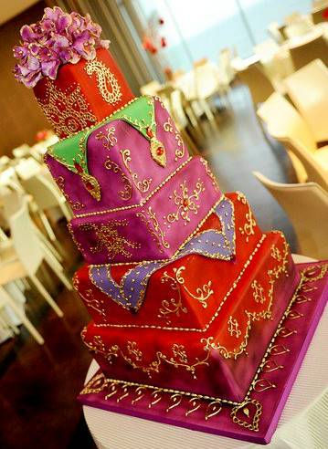 Indian themed cake - Indian Weddings