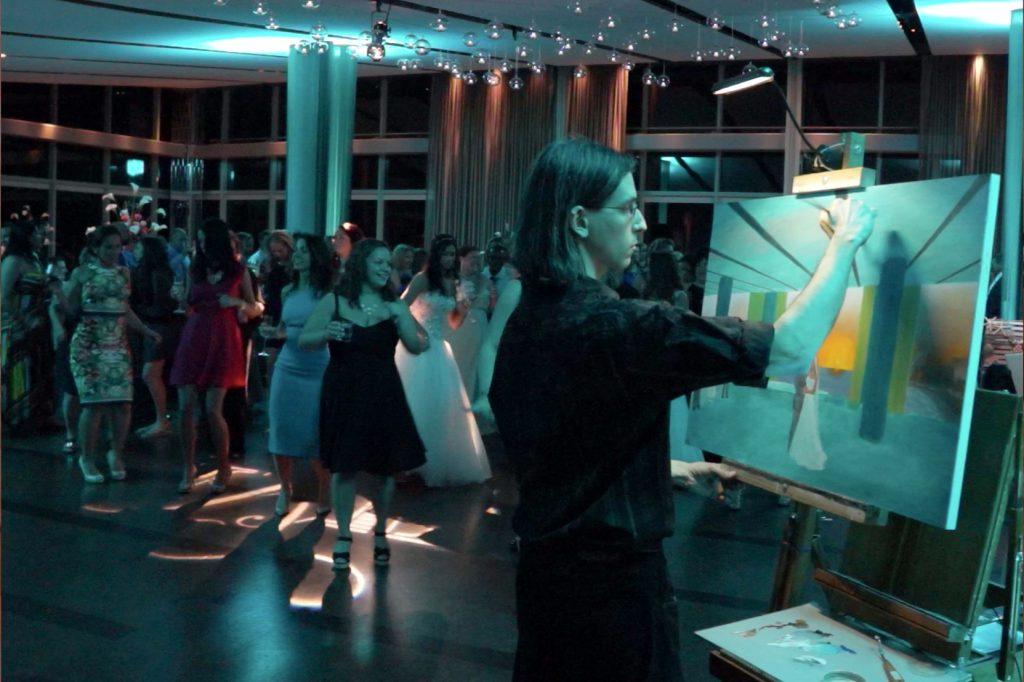 11 Wedding Reception Celebration Painter 1024x682 - Anthony Galati Live Event Painter