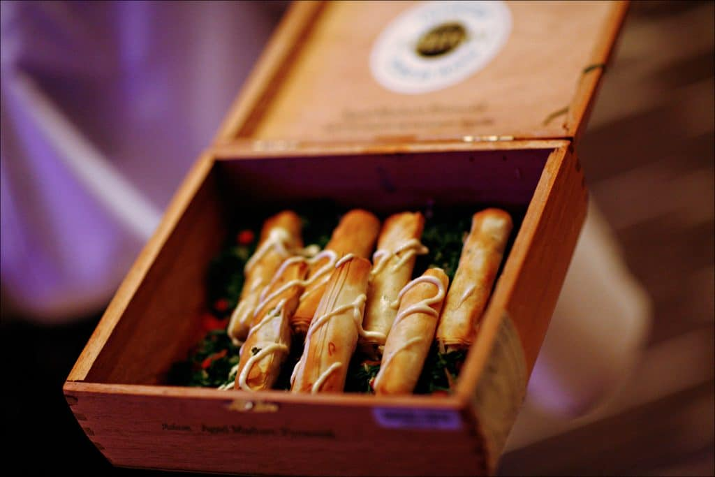 Crab Cigars 1024x683 - Butlered Hors d'oeuvres