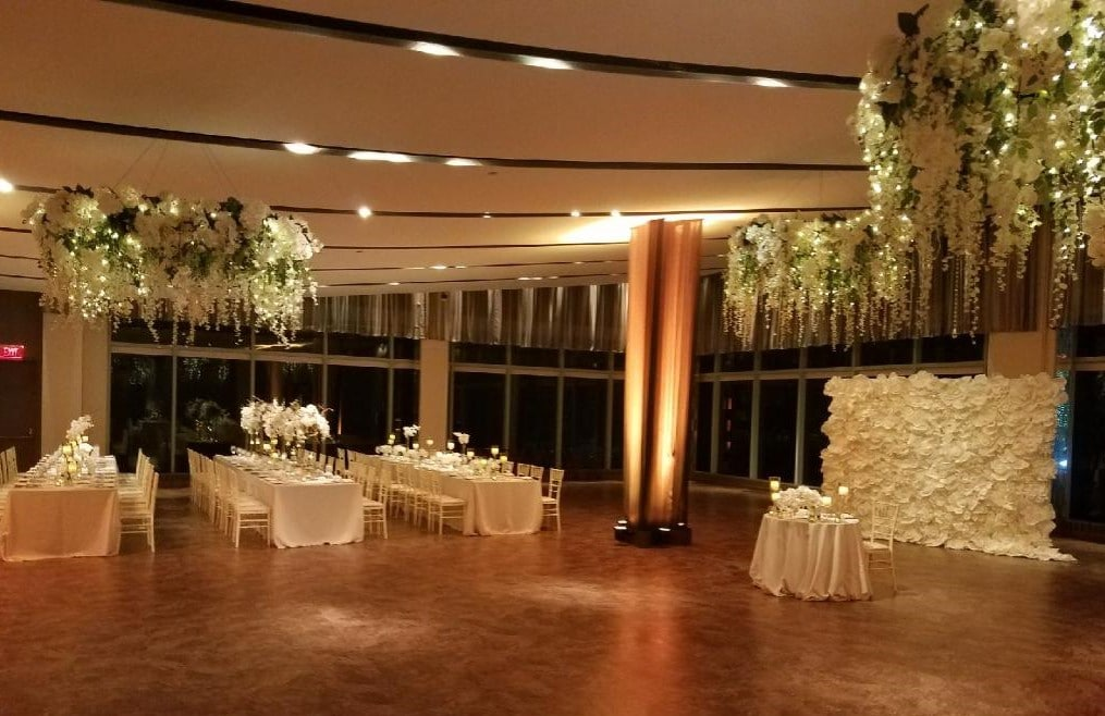 Hanging Floral Chandaliers - Atlantic Room