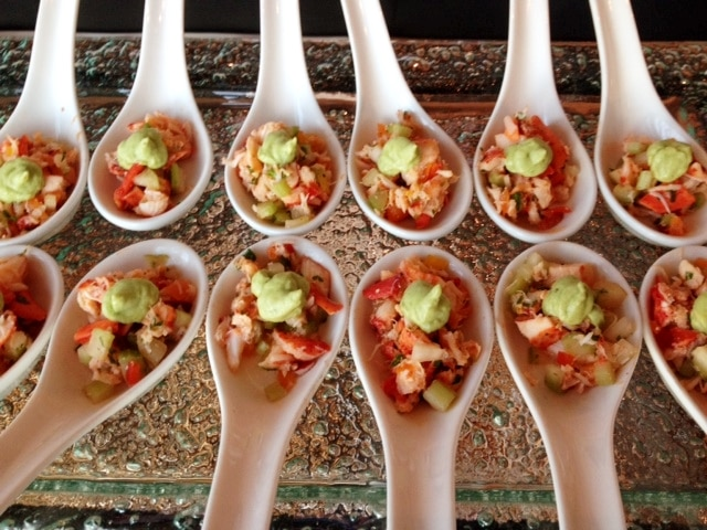 Lobster Salad on Asian Spoons - Butlered Hors d'oeuvres