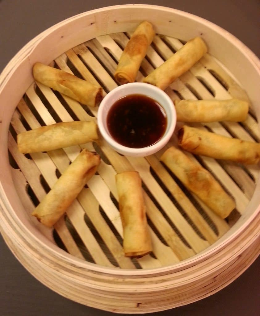 Spring Rolls with Soy Dipping Sauce 842x1024 - Butlered Hors d'oeuvres