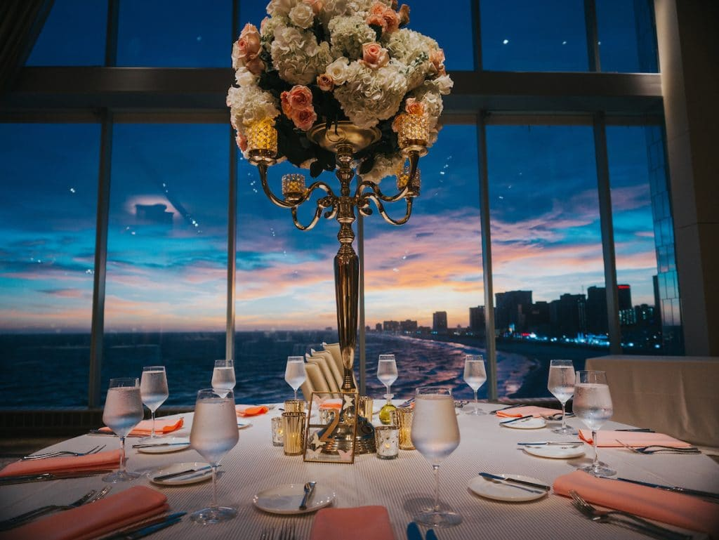 Coral centerpiece   sunset 1024x769 - Receptions