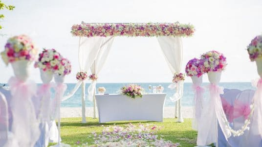 flower archway 2477270 960 720 1 536x302 - Tips For Planning Beautiful Beach Weddings